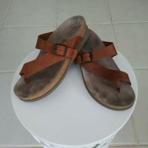 Mephisto Sandles Women EUR 38/8 Brown Leather Toe